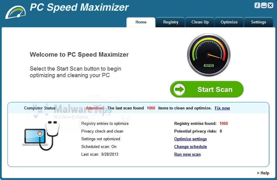 [Image: PC Speed Maximizer virus]