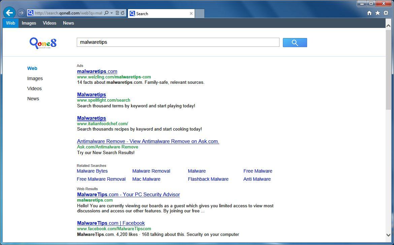 [Image: Search.Qone8.com redirect]