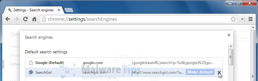 [Image: SearchGol.com Chrome removal]