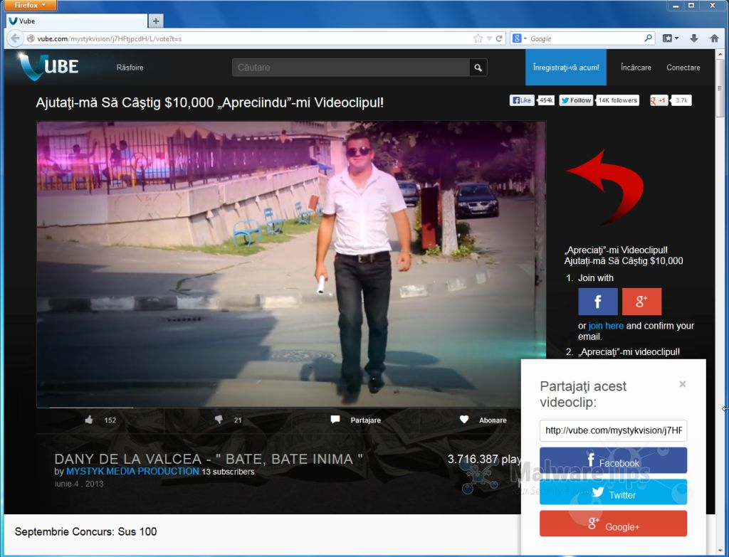 [Image: Vube.com pop-up virus]