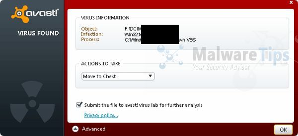 [Image: Win32:Evo-gen [Susp] infection by Avast]