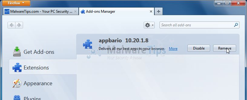 [Image: Appbario Toolbar Firefox extension]