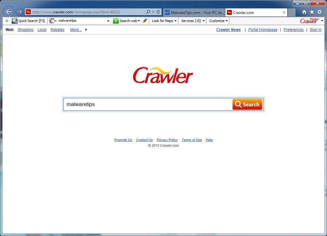 [Image: Crawler.com virus]