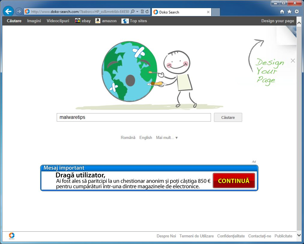 [Image: Doko-Search.com virus[
