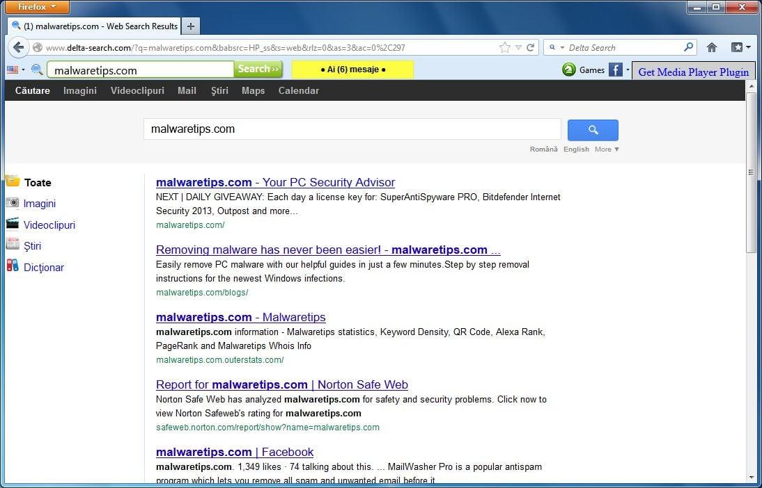 [Image: Firefox toolbar virus]