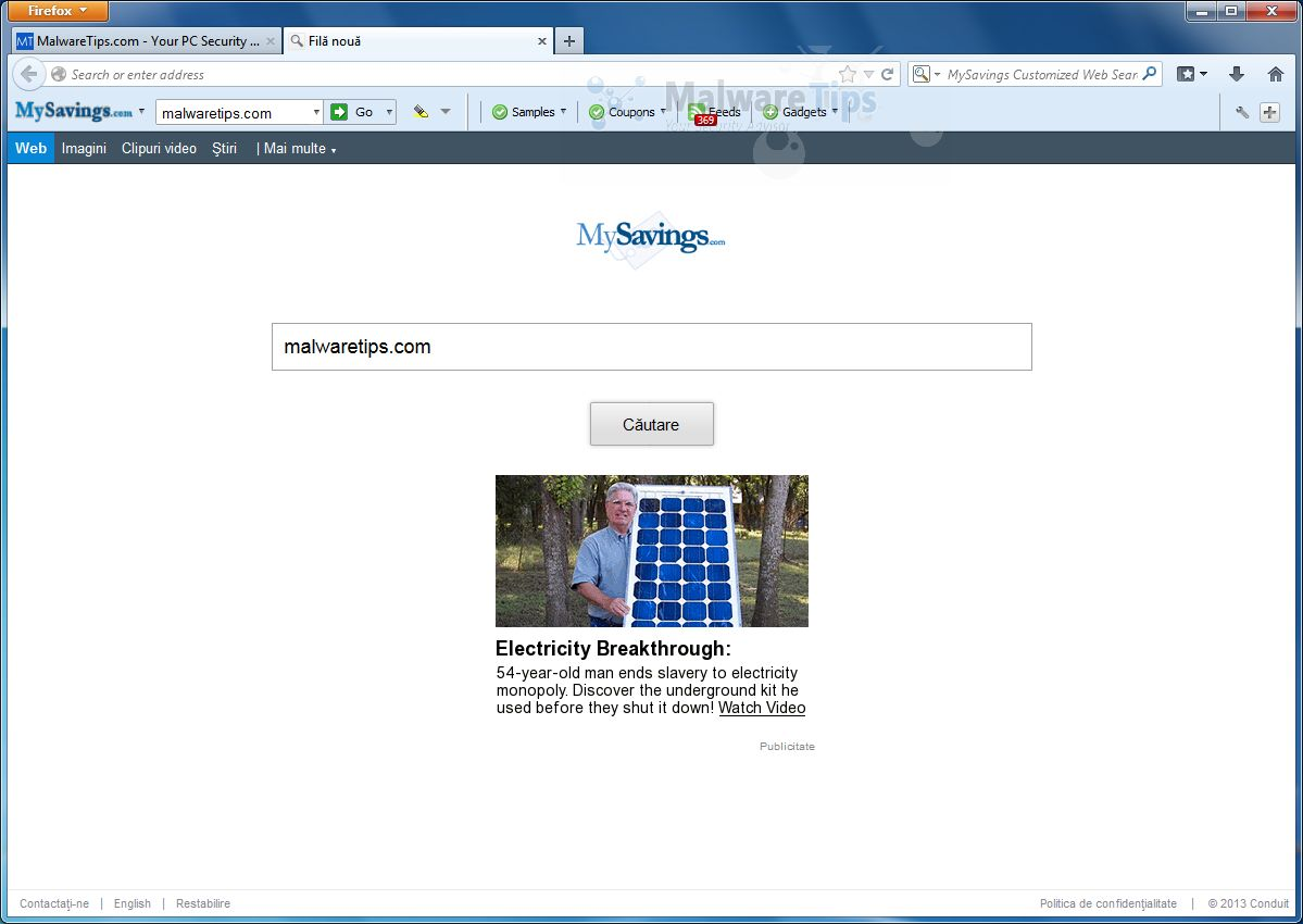 Conduit Hijacked My Browser With Bing Community Toolbar /page