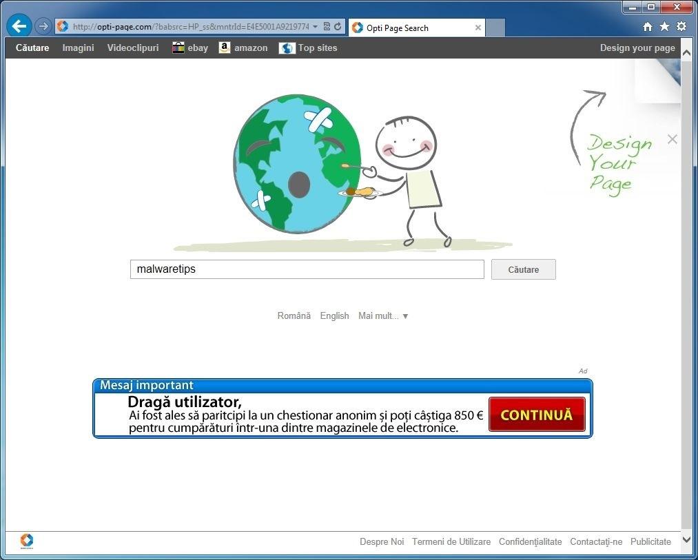 Remove Opti-page.com search (Virus Removal Guide)