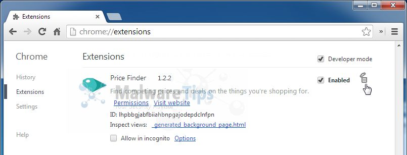 STEP 3: Remove Price Finder adware with AdwCleaner