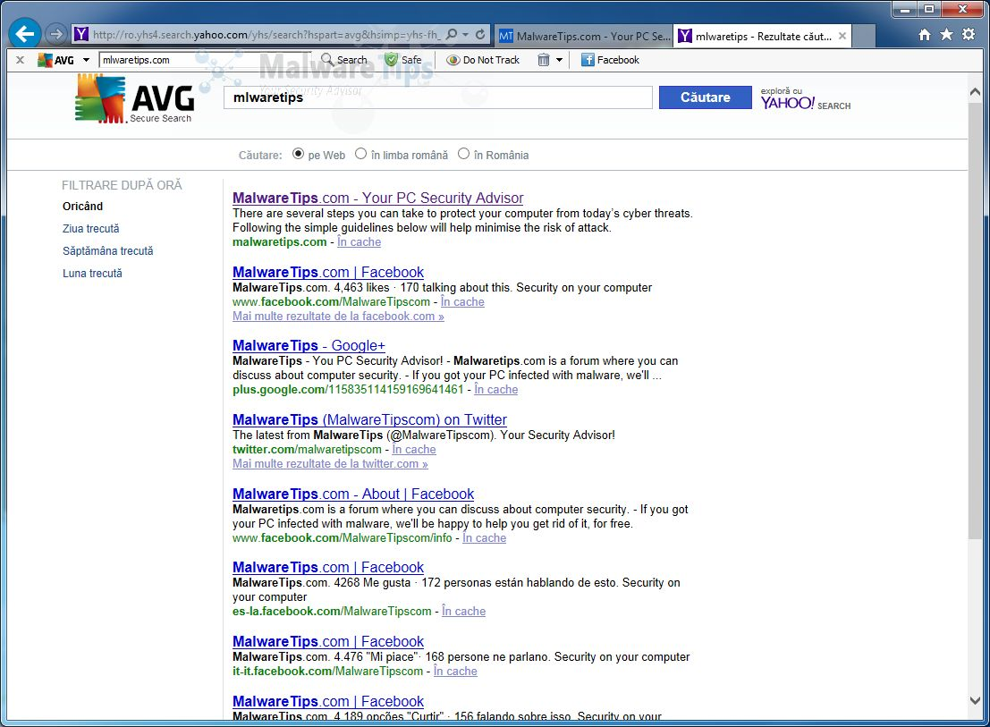 [Image: AVG Secure Search redirect]