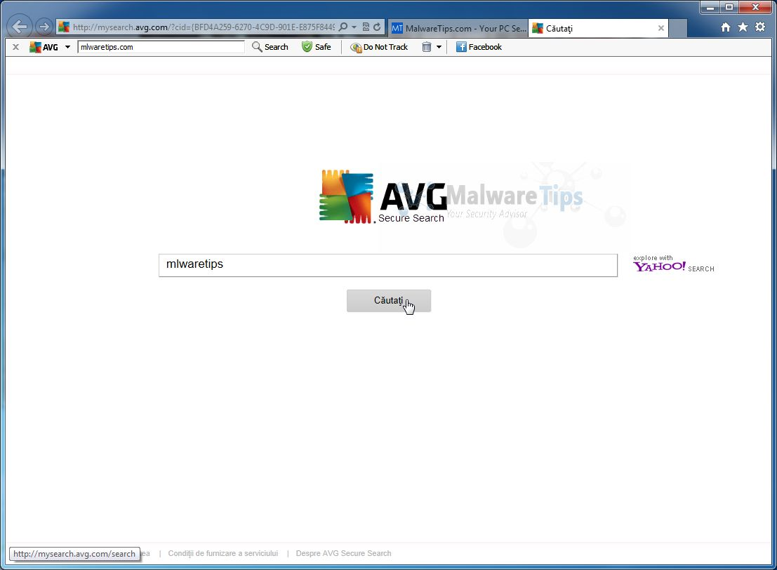 [Image: AVG Secure Search virus]