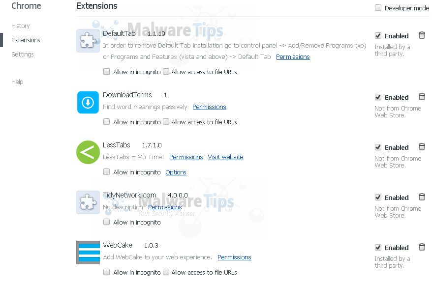 [Image: Feven 1.7 Chrome extensions]