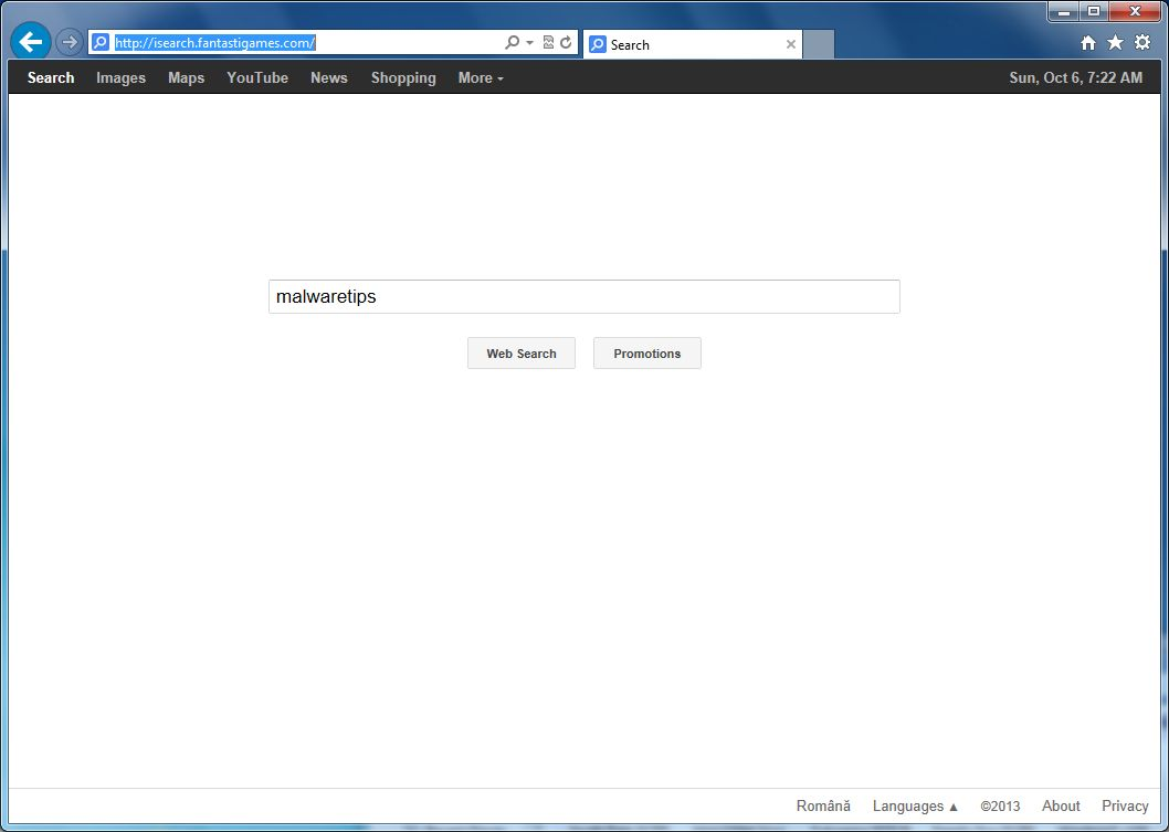 [Image: Isearch.fantastigames.com virus]