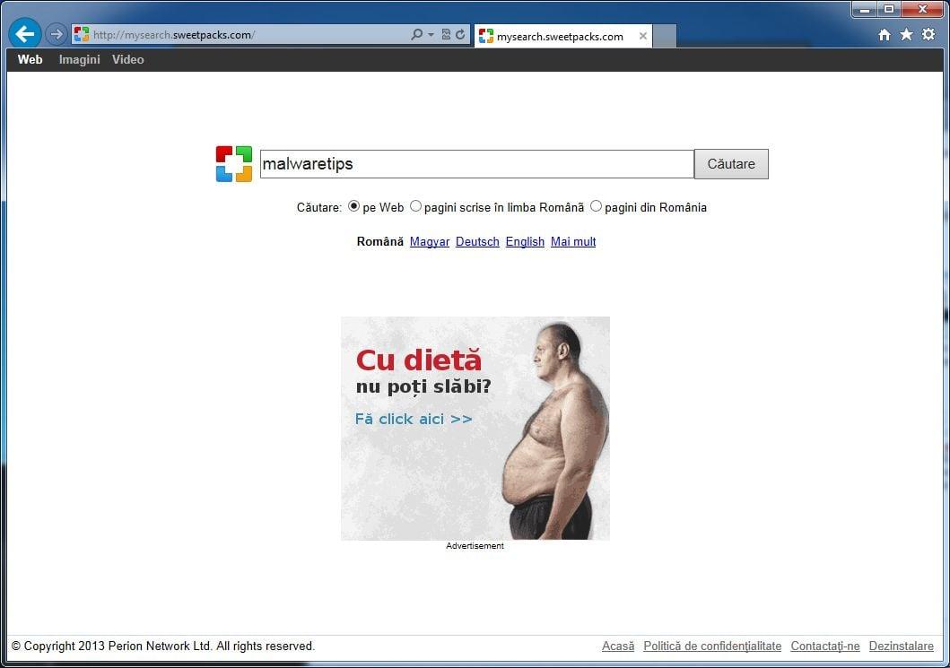 [Image: Mysearch.Sweetpacks.com virus]