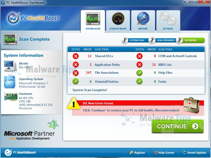 [Image: PC HealthBoost virus]