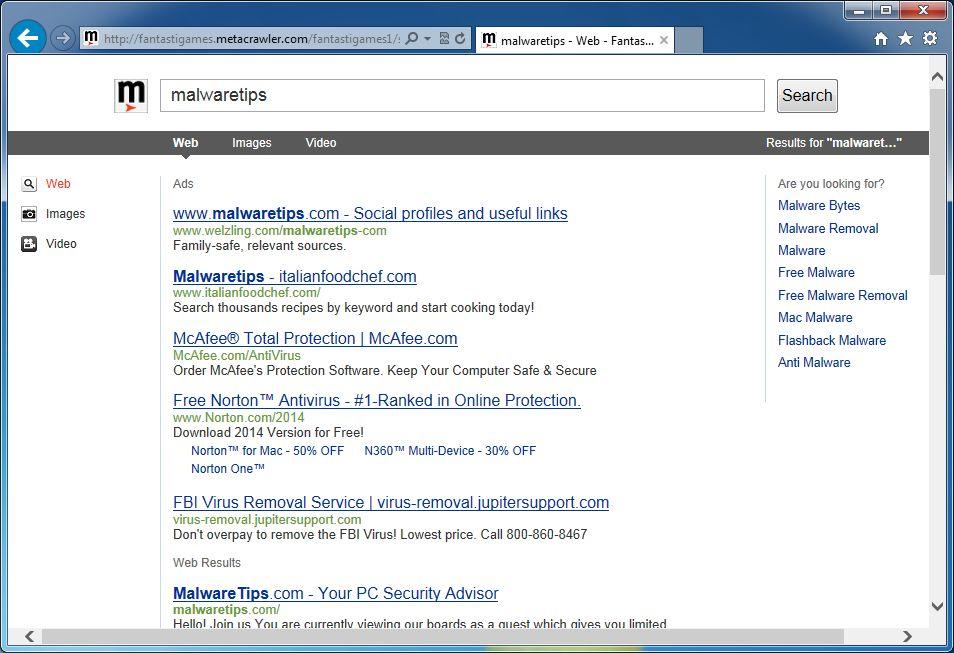 Remove Search fantastigames com redirect (Virus Removal Guide)