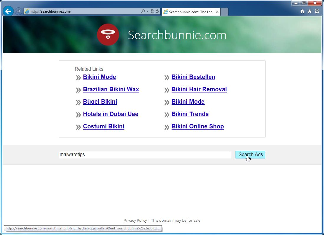 Remove Searchbunnie.com redirect (Virus Removal Guide)