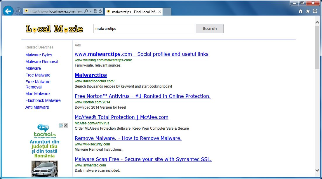 [Image: Websearch.wisesearch.info redirect]