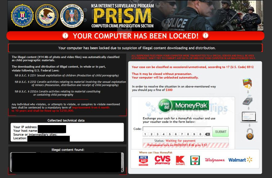 Remove National Security Agency Virus Removal Guide