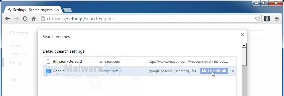 [Image: Amazon Smart Search Chrome redirect]