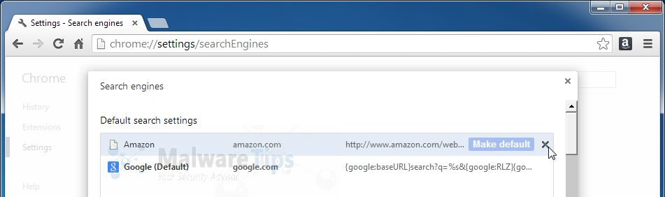 [Image: Amazon Smart Search Chrome removal]