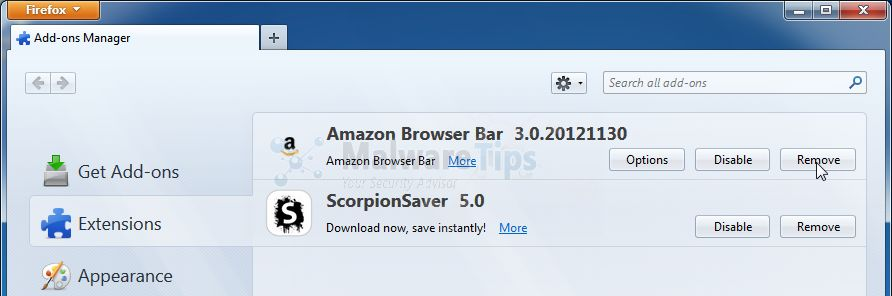 [Image: Amazon Toolbar Firefox extension]