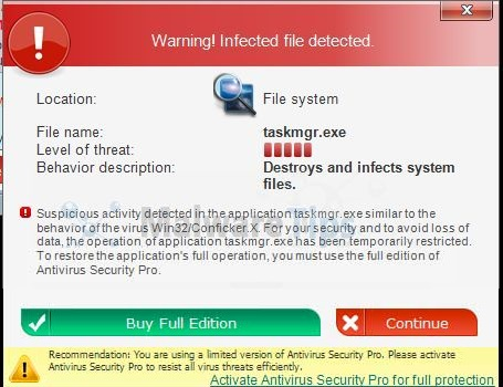 [Image: Antivirus Security Pro 2014 Warning]