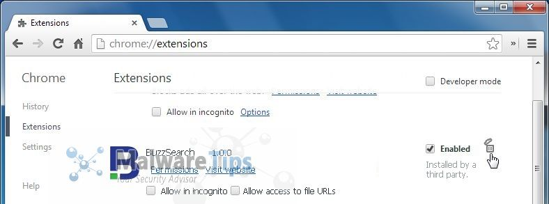 how to not allow extensions in chrome