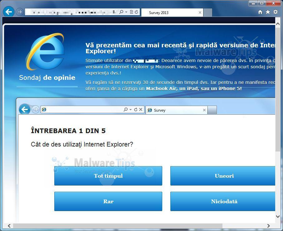 [Image: Srv.aileron.com pop-up virus]