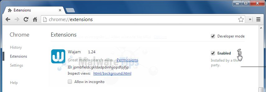 [Image: Wajam Chrome extensions]