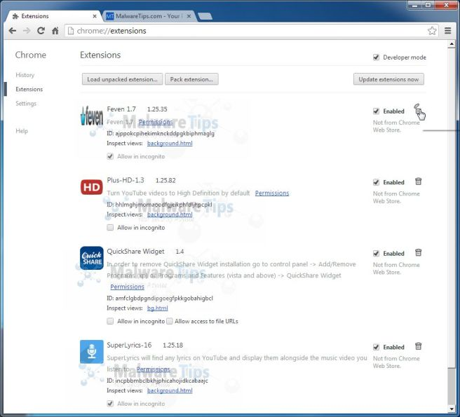 [Image: MyInfotopia Chrome extensions]