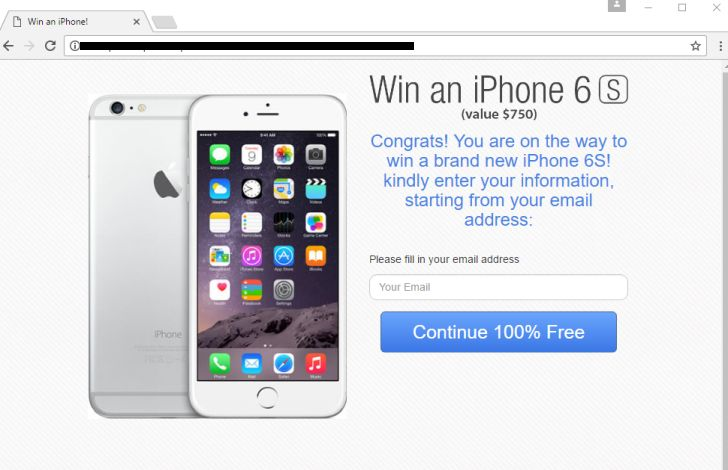 Win an iPhone virus