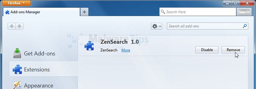 [Image: ZenSearch Firefox extension]