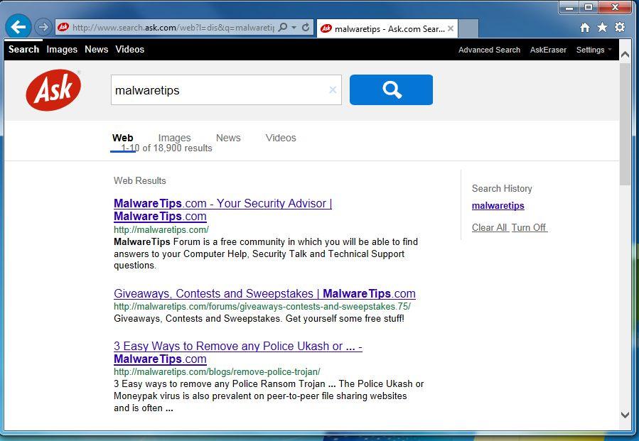 Remove Search.Jzip.com redirect (Virus Removal Guide)