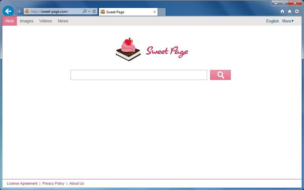 [Image: Sweet-Page.com virus]