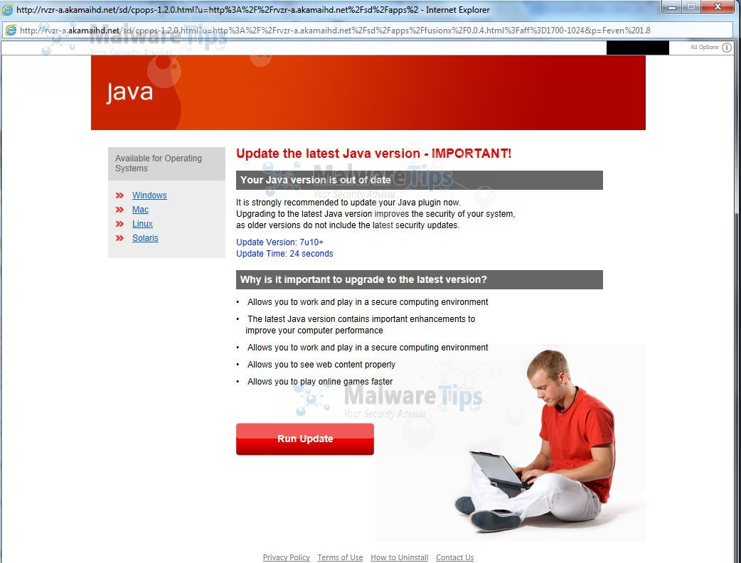 [Image: Update the latest Java version virus]