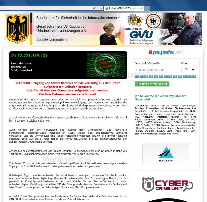 Warnung Polizei Virus