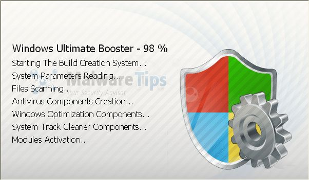 [Image: Windows Ultimate Booster malware]