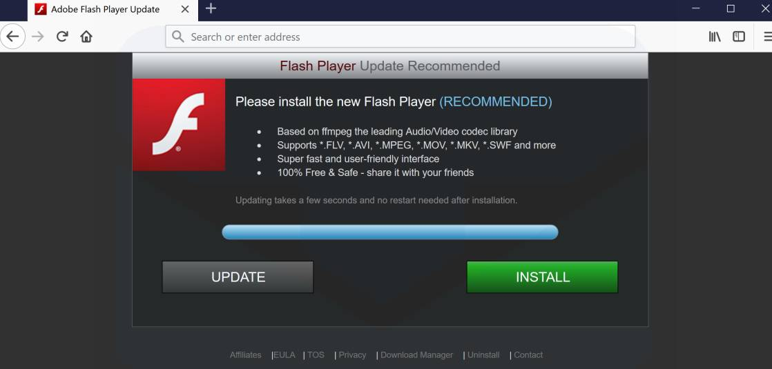 Flash player needs updating all the fish dating