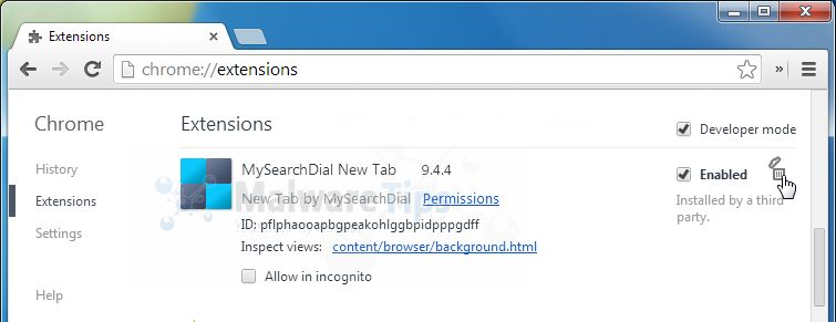 Remove the MP3 Search Engine Chrome Extension