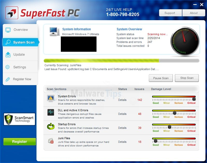 "Remove ""SuperFast PC"" system optimizer (Removal Guide)"