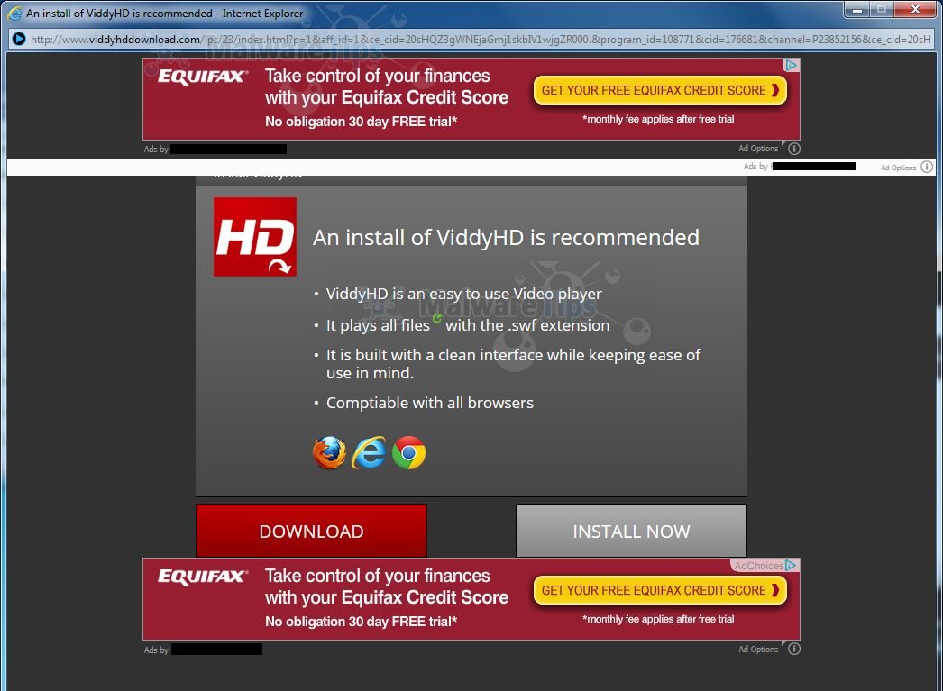 Remove ViddyHdDownload.com pop-up ads (Virus Removal Guide)