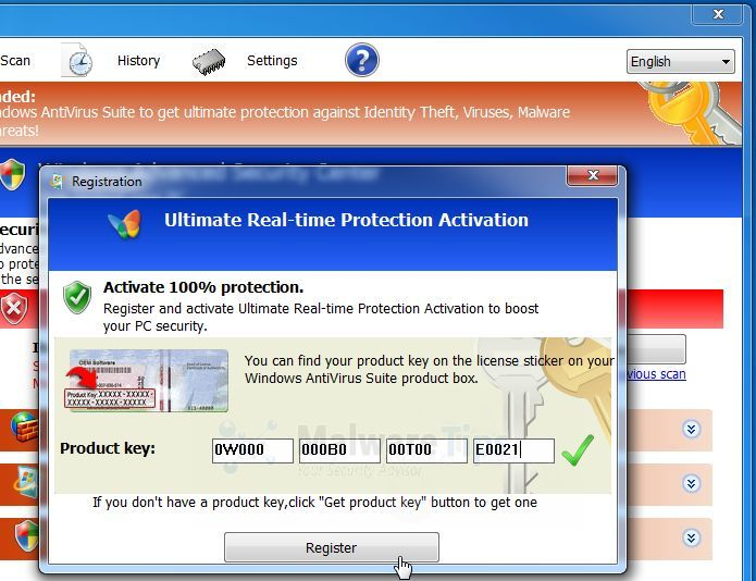 Picture of Windows Ultimate Booster Activation Code