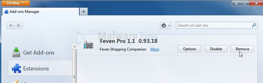 [Image: Feven Pro 1.2 Firefox extension]