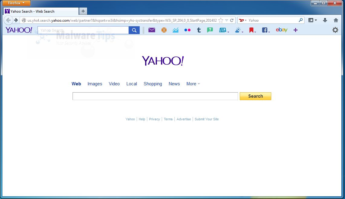 [Image: InstallX Search Protect for Yahoo - Alert]