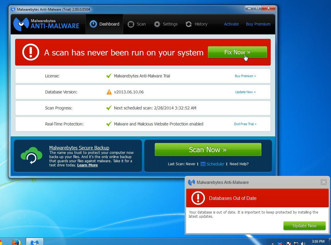 Malwarebytes Anti-Malware 2.0 was released, so lets see what's new ...