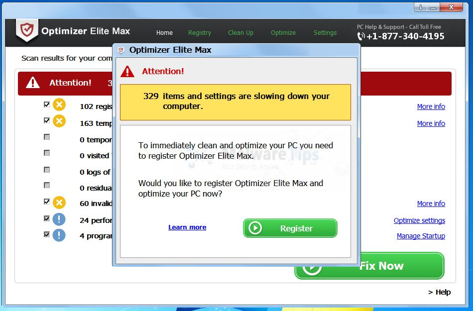 [Image: Optimizer Elite Max registration]