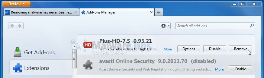 [Image: Plus-HD-7.5 Firefox extensions]