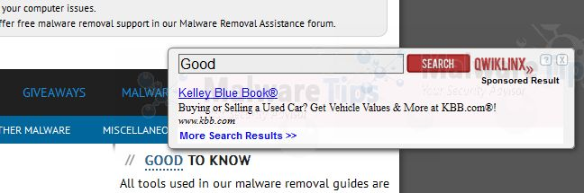 Remove QwikLinx pop-up ads (Virus Removal Guide)
