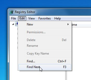[Image: Click on Edit then select Find next]