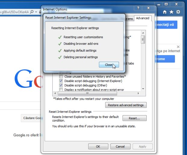 Nov 03,  · In the Reset Internet Explorer Settings dialog box, select Reset. When Internet Explorer finishes applying default settings, select Close, and then select OK. Restart your PC to apply changes.